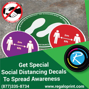 Get Special Social Distancing Decals To Spread Awareness – RegaloPrint