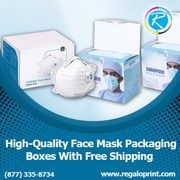 Face Mask Packaging Boxes With Free Delivery Service – RegaloPrint