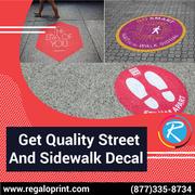 Get Quality Street And Sidewalk Decal – RegaloPrint