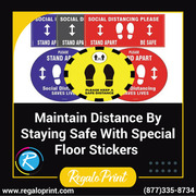 Maintain Distance By Staying Safe With Special Floor Stickers