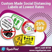 Custom Made Social Distancing Labels at Lowest Rates – RegaloPrint