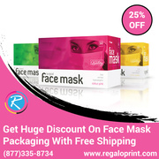Get 25% Discount On Face Mask Packaging With Free Shipping