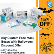 Buy Custom Face Mask Boxes With 15% Halloween Discount Offer