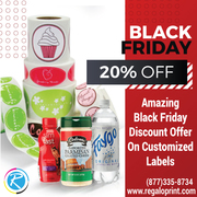 Amazing Black Friday 20% Discount On Customized Labels