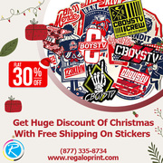 Get 30% Discount Of Christmas With Free Shipping On Stickers